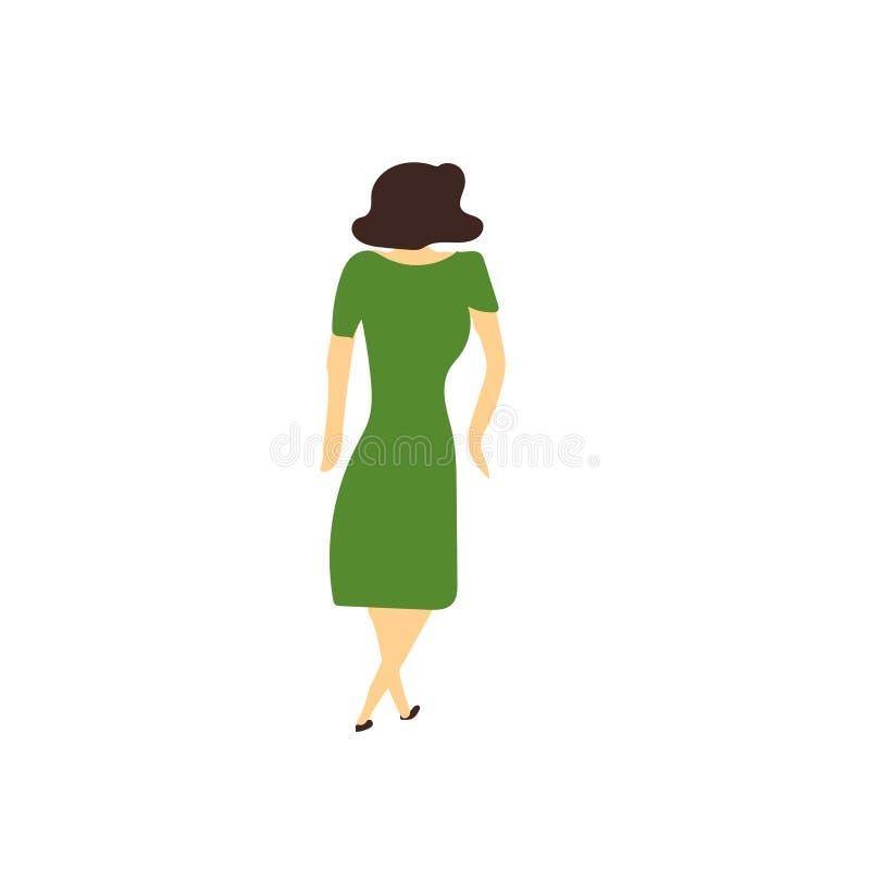 Muestra y símbolo del vector del vector de la mujer del baile aislados en el fondo blanco, concepto de baile del logotipo del vec stock de ilustración