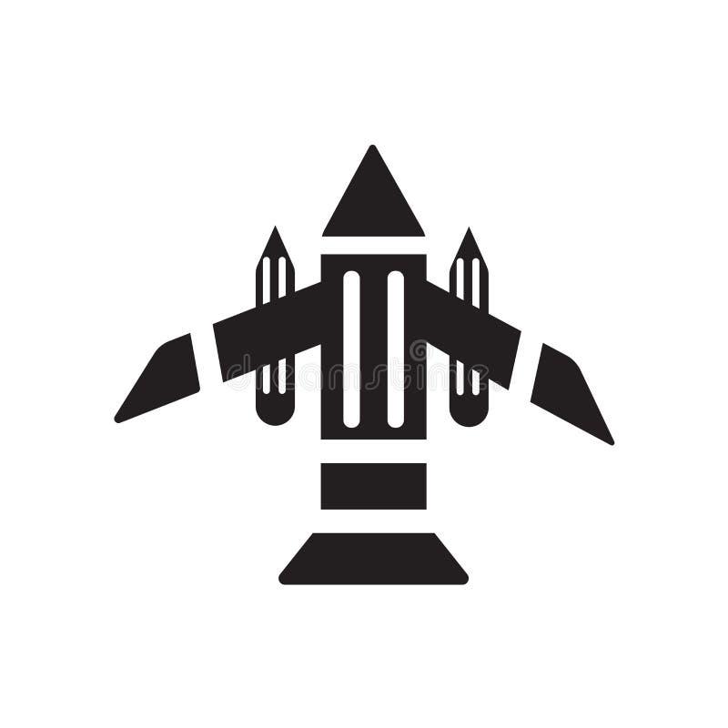 Muestra y símbolo del vector del icono del aeroplano aislados en el fondo blanco stock de ilustración