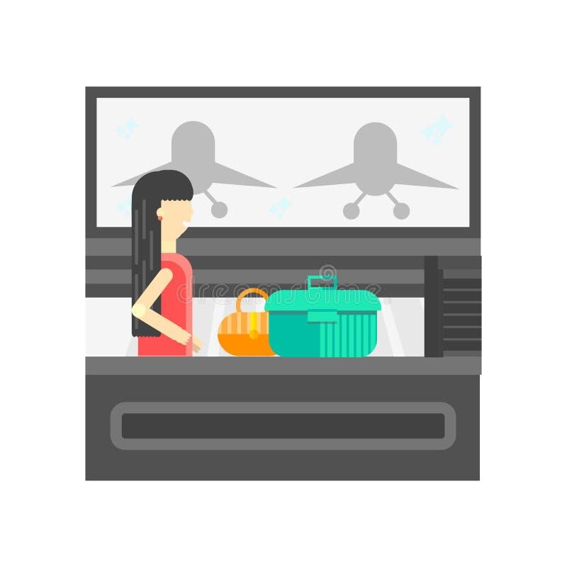 Muestra y símbolo del vector del icono del aeropuerto aislados en el fondo blanco libre illustration