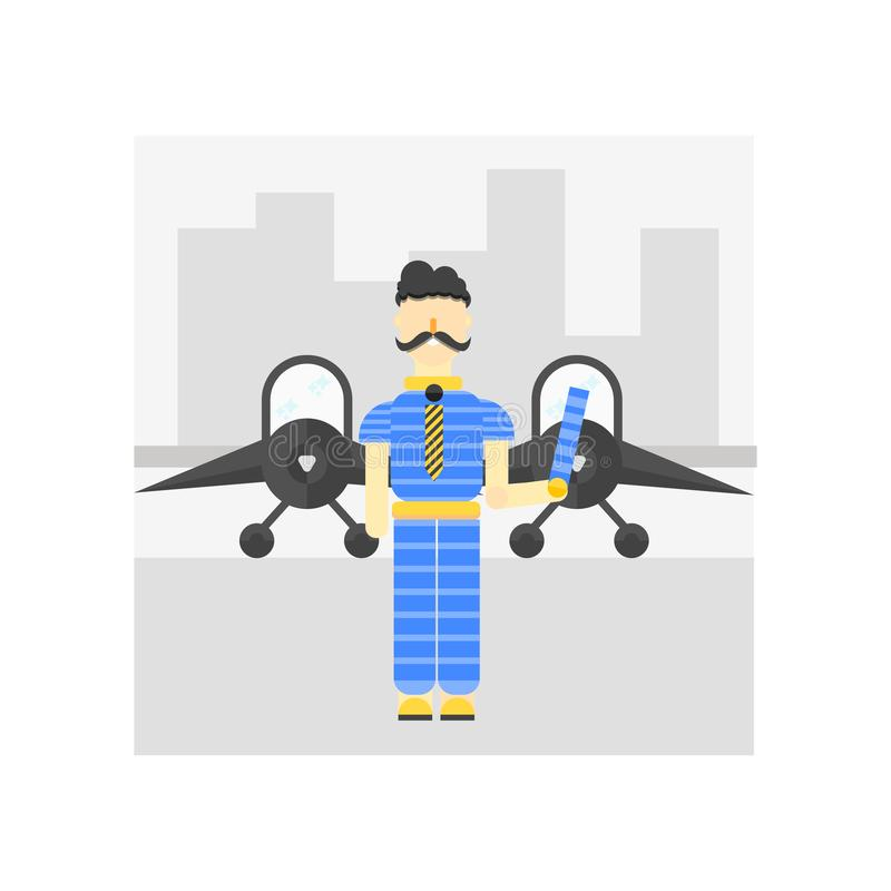 Muestra y símbolo del vector del icono del aeropuerto aislados en el fondo blanco, concepto del logotipo del aeropuerto libre illustration