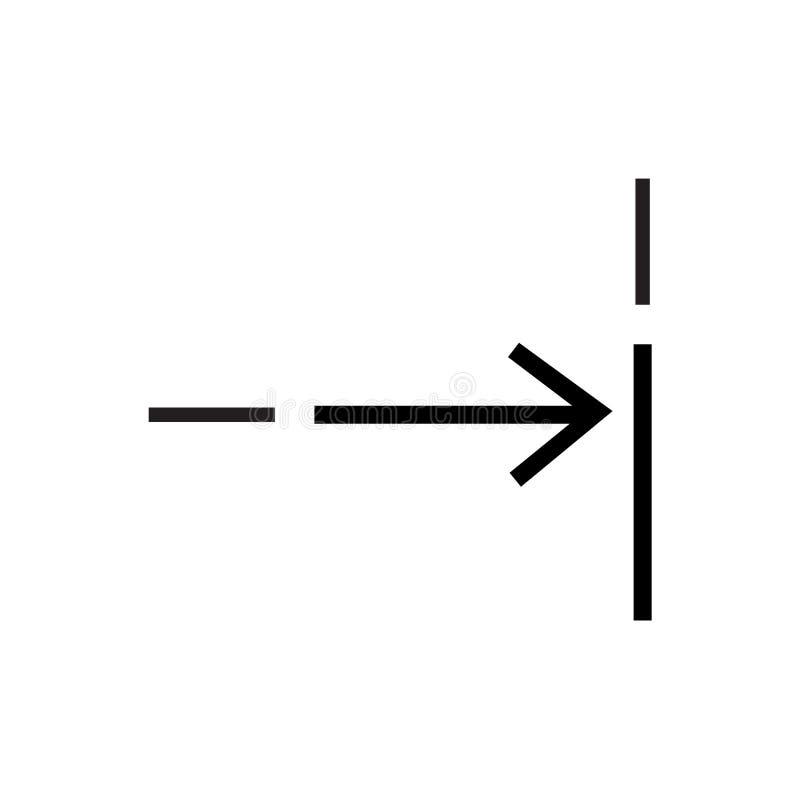 Muestra y símbolo del vector del icono del ajuste aislados en el fondo blanco, concepto apto del logotipo ilustración del vector