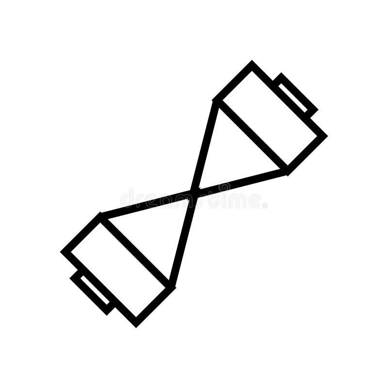Muestra y símbolo del vector del icono del ampliador del pecho aislados en el fondo blanco, concepto del logotipo del ampliador d libre illustration