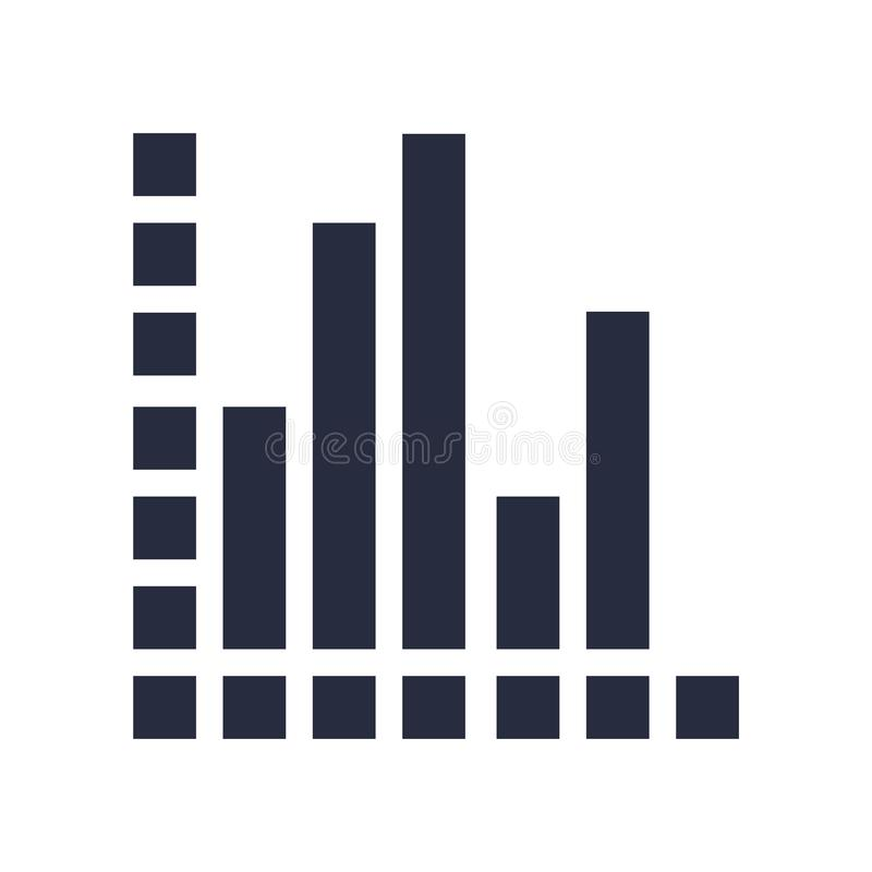 Muestra y símbolo del vector del icono del Analytics aislados en el backgrou blanco libre illustration