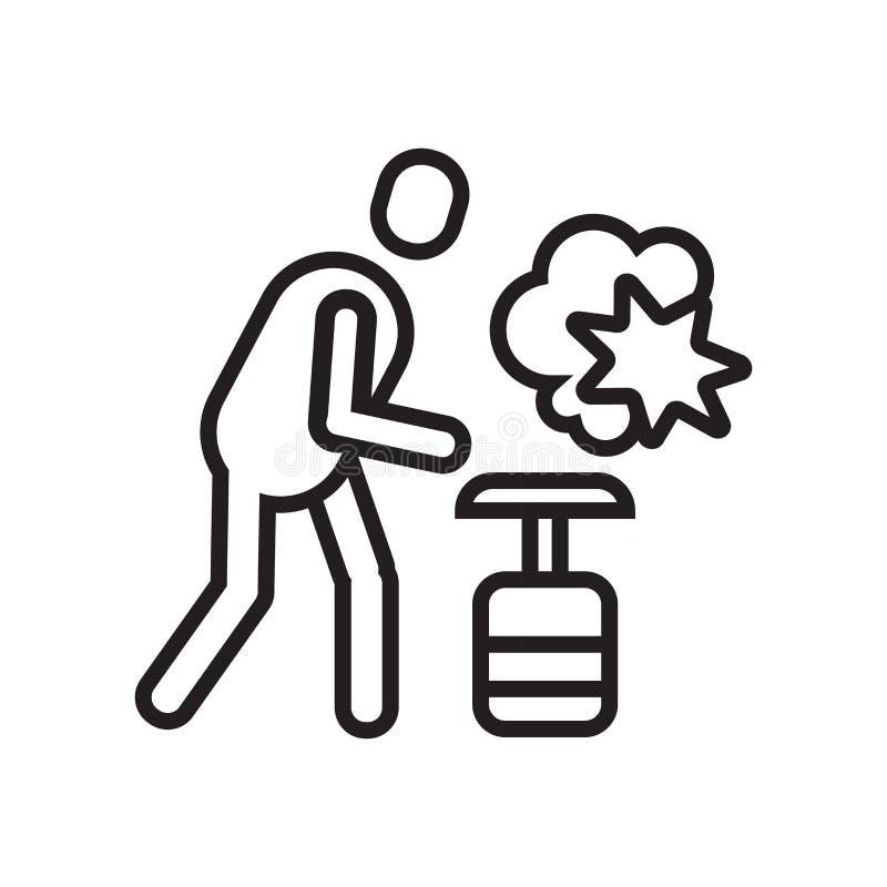Muestra y símbolo del vector del icono del arenador aislados en el fondo blanco libre illustration