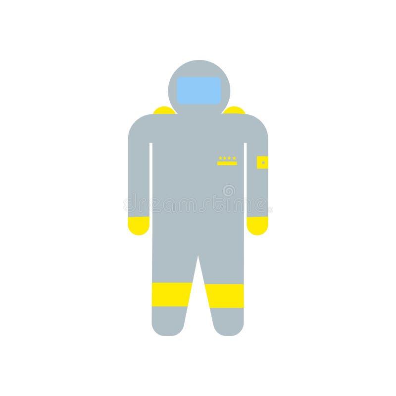 Muestra y símbolo del vector del icono del astronauta aislados en el fondo blanco, concepto del logotipo del astronauta stock de ilustración