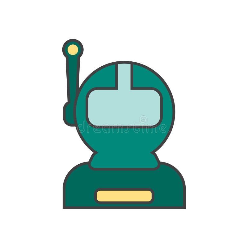 Muestra y símbolo del vector del icono del astronauta aislados en el fondo blanco, concepto del logotipo del astronauta libre illustration