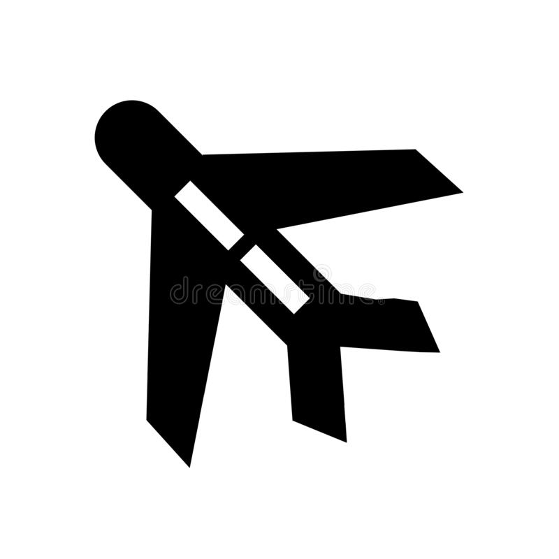 Muestra y símbolo del vector del icono del avión aislados en el fondo blanco, concepto del logotipo del avión stock de ilustración