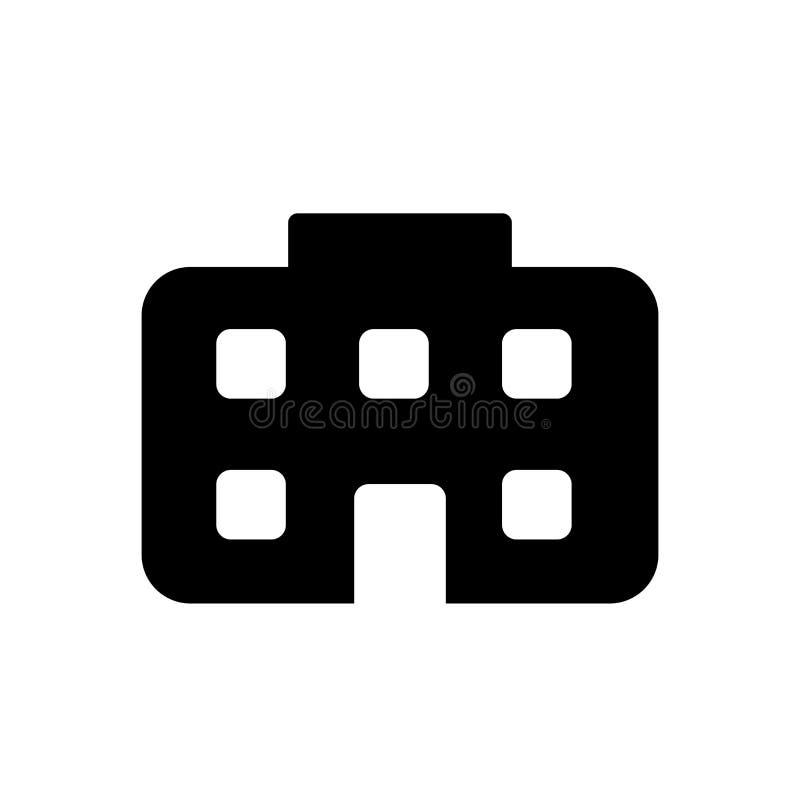 Muestra y símbolo del vector del icono del ayuntamiento aislados en el fondo blanco ilustración del vector