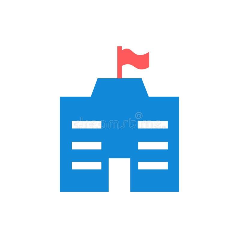 Muestra y símbolo del vector del icono del ayuntamiento aislados en el fondo blanco libre illustration