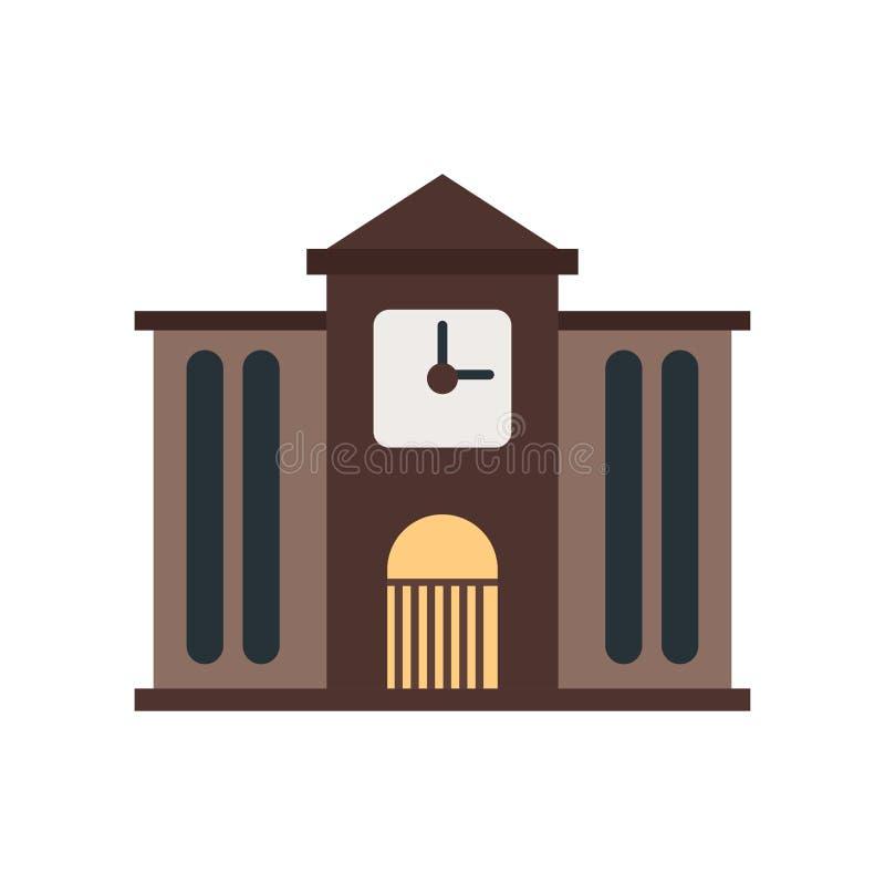 Muestra y símbolo del vector del icono del ayuntamiento aislados en el fondo blanco, concepto del logotipo del ayuntamiento stock de ilustración