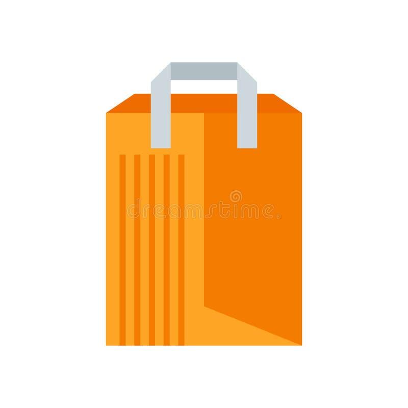Muestra y símbolo del vector del icono del bolso de compras aislados en el fondo blanco, concepto del logotipo del bolso de compr ilustración del vector
