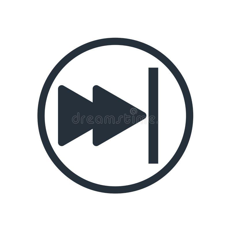 Muestra y símbolo del vector del icono del botón de pausa aislados en el fondo blanco, concepto del logotipo del botón de pausa stock de ilustración