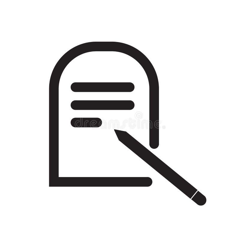 Muestra y símbolo del vector del icono del botón Editar aislados en el backgr blanco stock de ilustración
