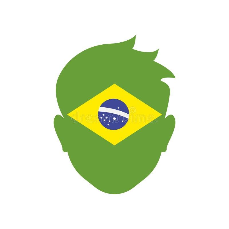 Muestra y símbolo del vector del icono del Brasil aislados en el fondo blanco libre illustration