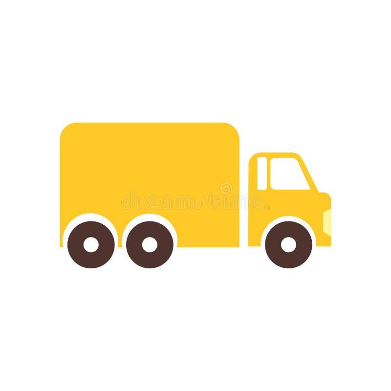 Muestra y símbolo del vector del icono del camión de reparto aislados en el fondo blanco, concepto del logotipo del camión de rep ilustración del vector