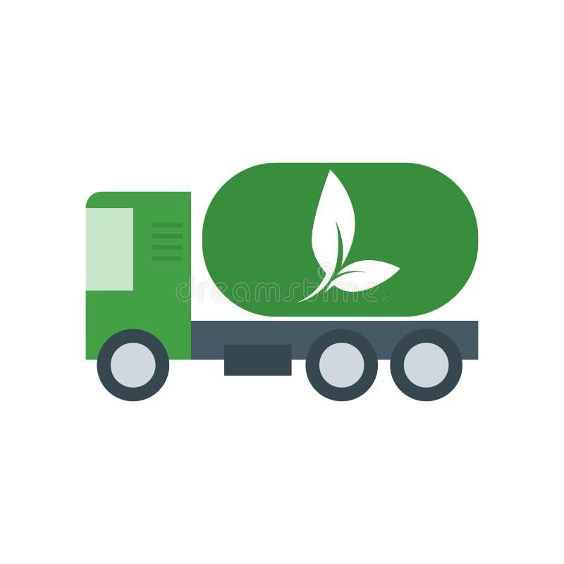 Muestra y símbolo del vector del icono del camión del gas aislados en el fondo blanco, concepto del logotipo del camión del gas ilustración del vector