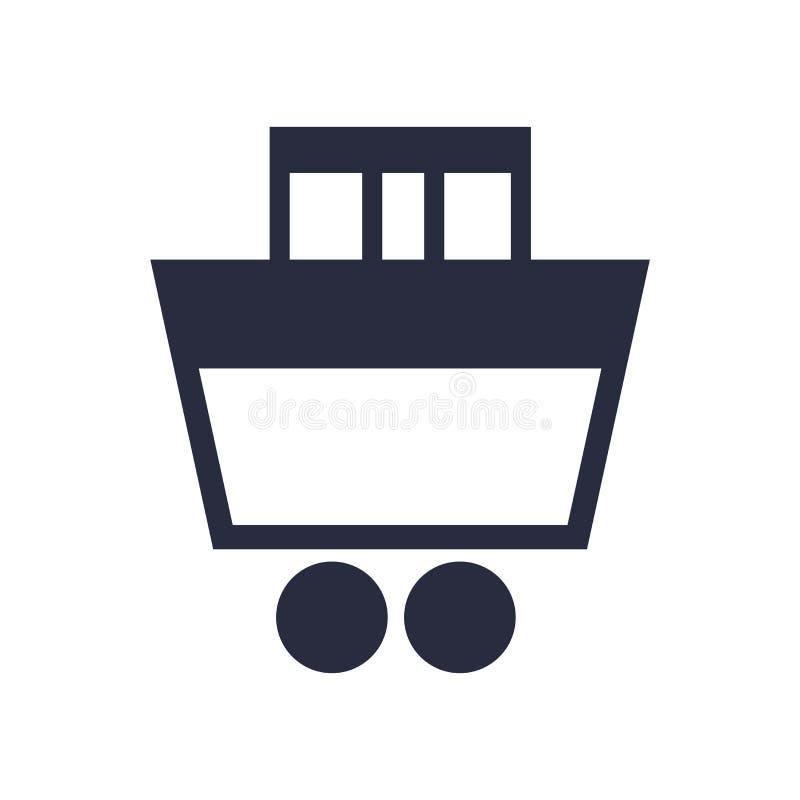 Muestra y símbolo del vector del icono del carro de la compra aislados en el fondo blanco, concepto del logotipo del carro de la  ilustración del vector