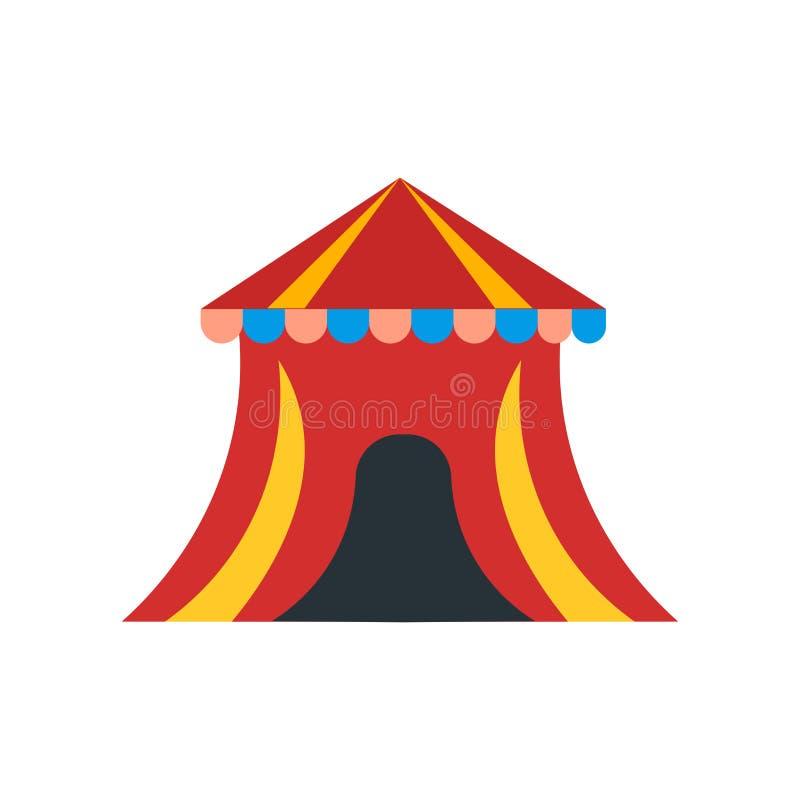 Muestra y símbolo del vector del icono del circo aislados en el fondo blanco, concepto del logotipo del circo libre illustration