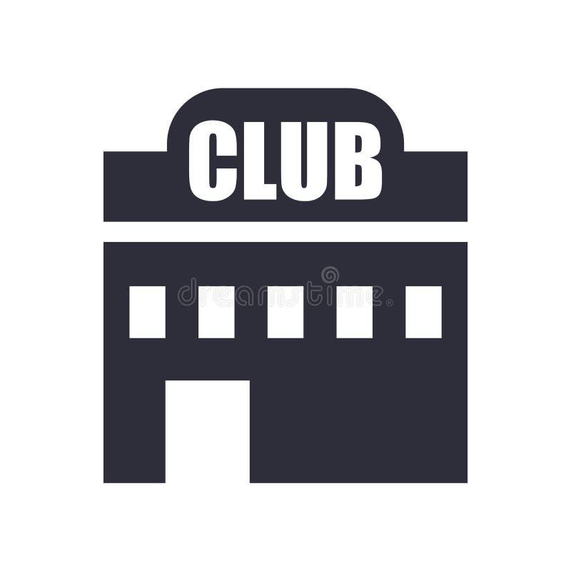 Muestra y símbolo del vector del icono del club aislados en el fondo blanco, concepto del logotipo del club ilustración del vector