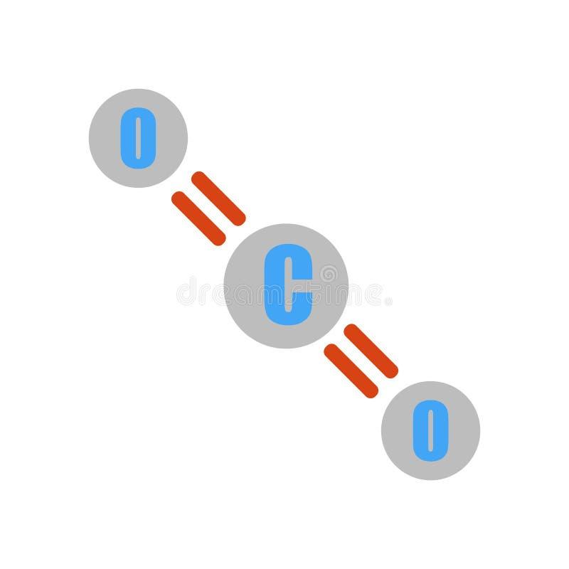 Muestra y símbolo del vector del icono del CO2 aislados en el fondo blanco libre illustration