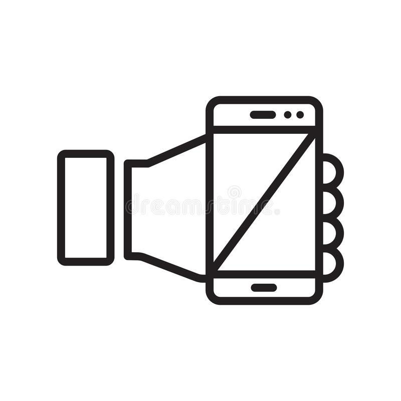 Muestra y símbolo del vector del icono del comercio electrónico aislados en el backgrou blanco libre illustration