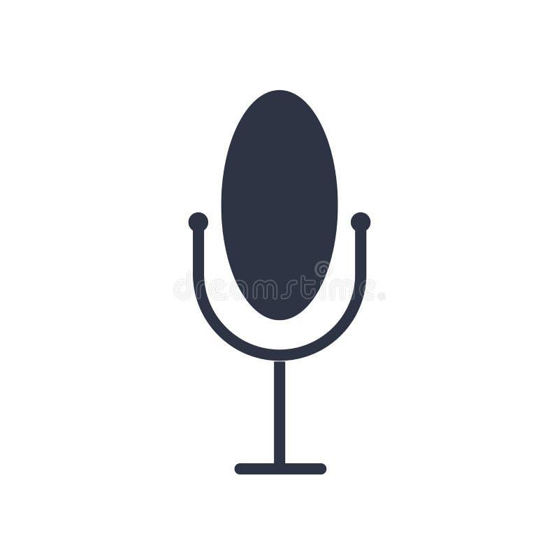 Muestra y símbolo del vector del icono del control de la voz aislados en el fondo blanco, concepto del logotipo del control de la ilustración del vector