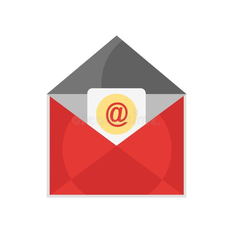 Muestra y símbolo del vector del icono del correo electrónico aislados en el fondo blanco libre illustration