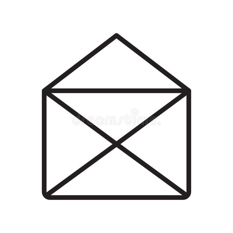 Muestra y símbolo del vector del icono del correo electrónico aislados en el fondo blanco, concepto del logotipo del correo elect libre illustration
