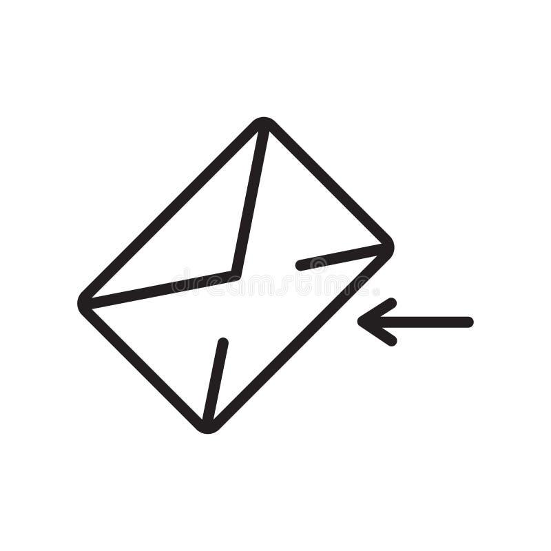 Muestra y símbolo del vector del icono del correo electrónico aislados en el fondo blanco, concepto del logotipo del correo elect ilustración del vector