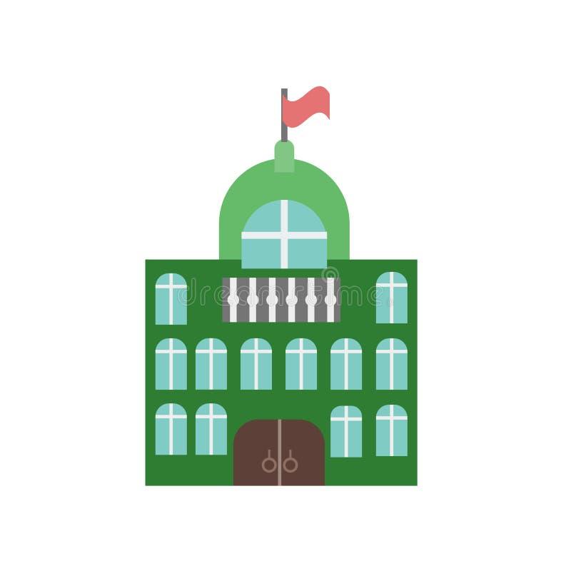 Muestra y símbolo del vector del icono de ayuntamiento aislados en el fondo blanco, concepto del logotipo de ayuntamiento stock de ilustración
