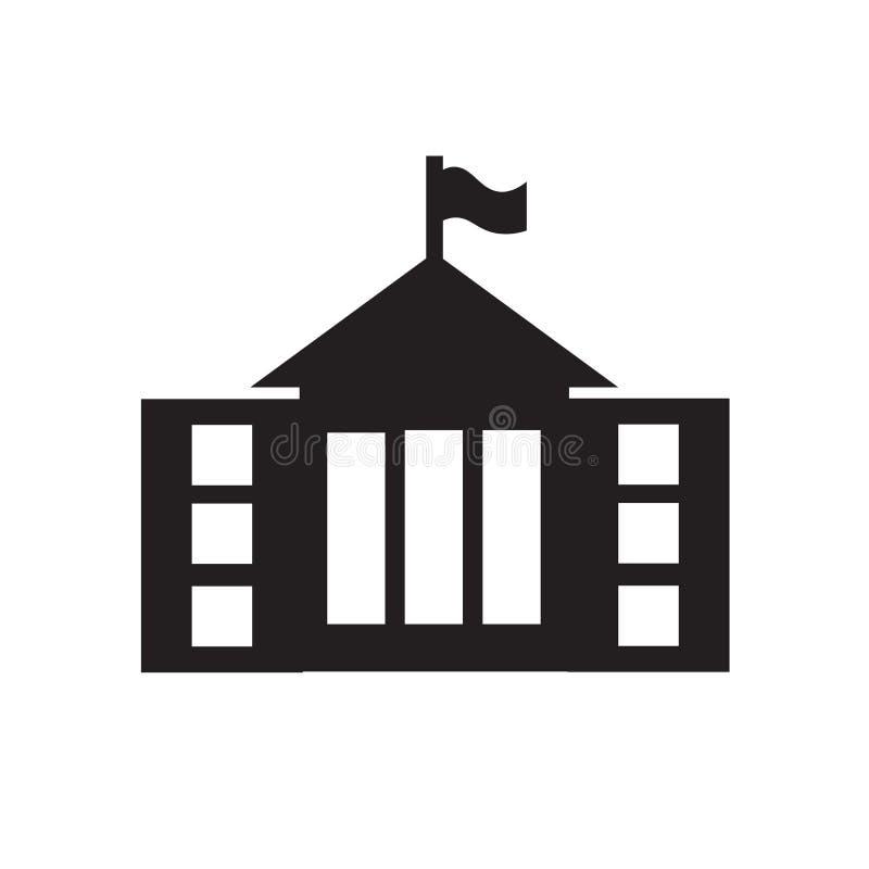 Muestra y símbolo del vector del icono de ayuntamiento aislados en el fondo blanco, concepto del logotipo de ayuntamiento ilustración del vector