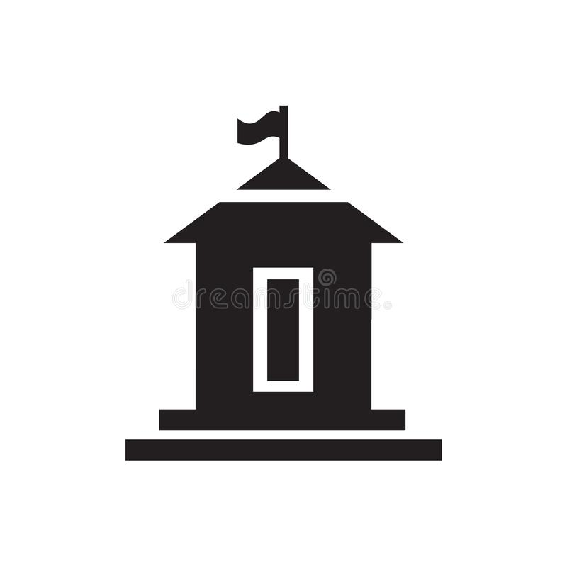 Muestra y símbolo del vector del icono de ayuntamiento aislados en el fondo blanco, concepto del logotipo de ayuntamiento libre illustration