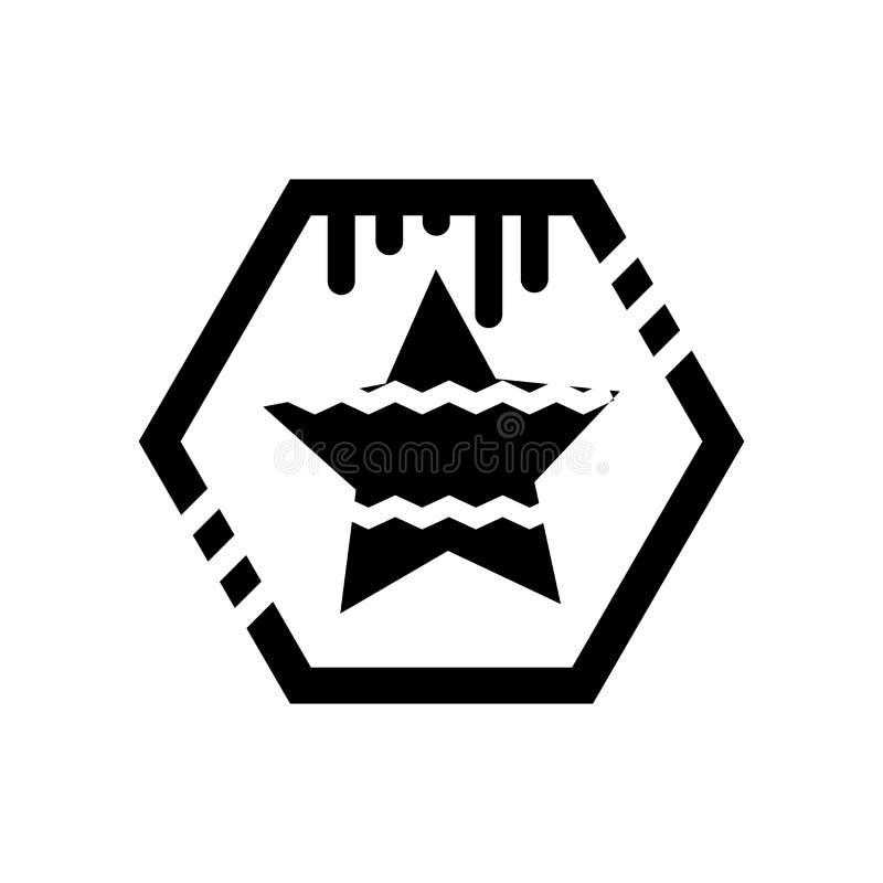 Muestra y símbolo del vector del icono de capitán América aislados en el fondo blanco, concepto del logotipo de capitán América ilustración del vector