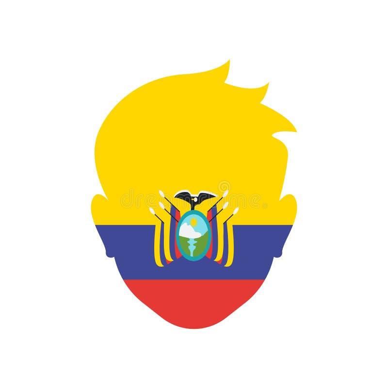 Muestra y símbolo del vector del icono de Ecuador aislados en el fondo blanco libre illustration