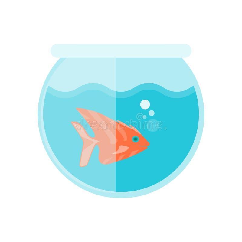 Muestra y símbolo del vector del icono de Fishbowl aislados en el fondo blanco, concepto del logotipo de Fishbowl stock de ilustración