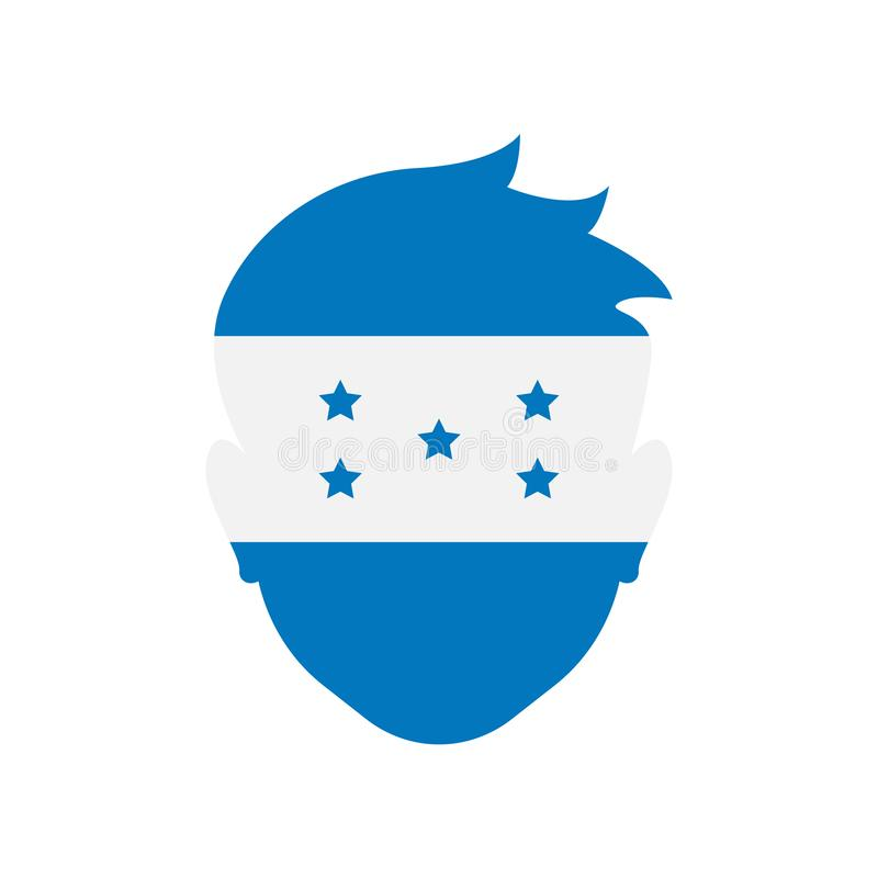 Muestra y símbolo del vector del icono de Honduras aislados en el backgroun blanco stock de ilustración