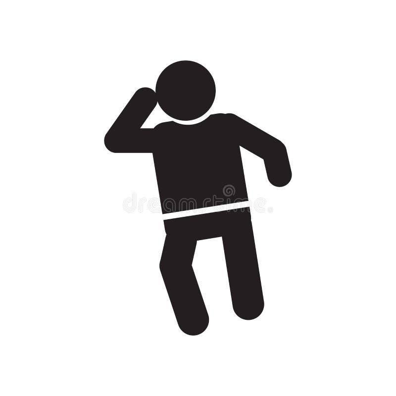 Muestra y símbolo del vector del icono de la audiencia del hombre aislados en el fondo blanco, concepto del logotipo de la audien stock de ilustración