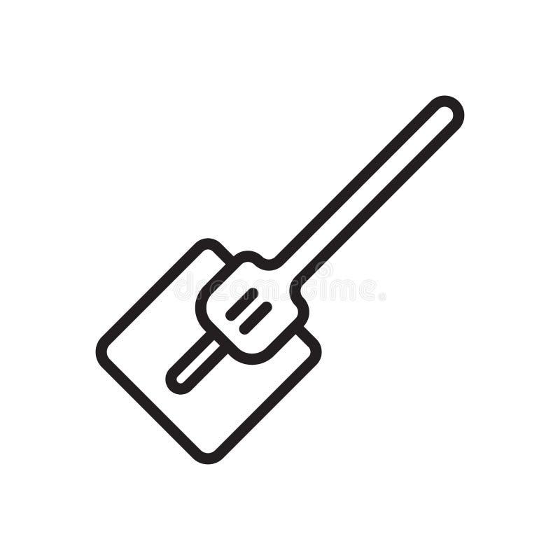 Muestra y símbolo del vector del icono de la azada aislados en el fondo blanco, concepto del logotipo de la azada, símbolo del es stock de ilustración