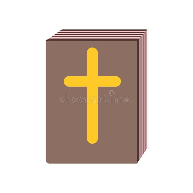Muestra y símbolo del vector del icono de la biblia aislados en el fondo blanco libre illustration