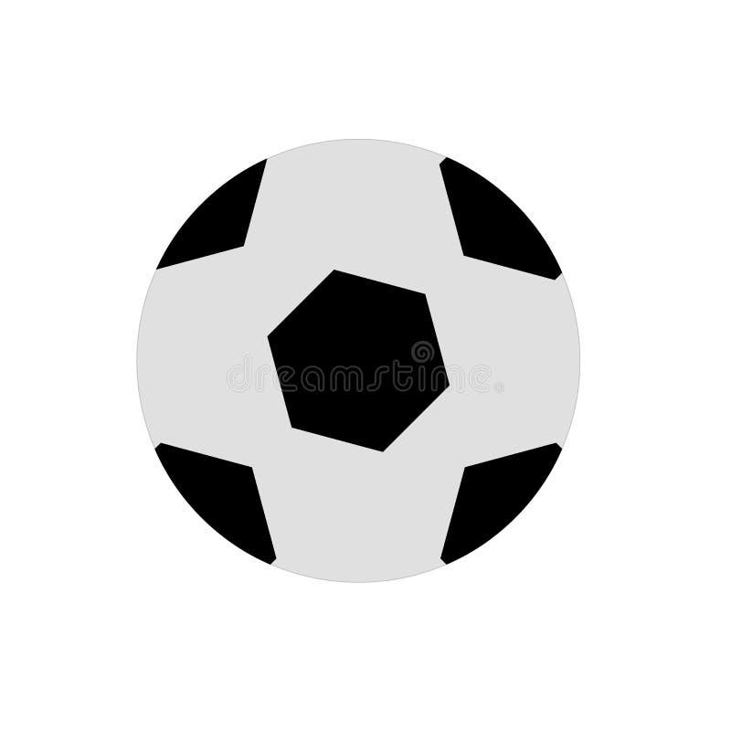Muestra y símbolo del vector del icono de la bola aislados en el fondo blanco, concepto del logotipo de la bola stock de ilustración