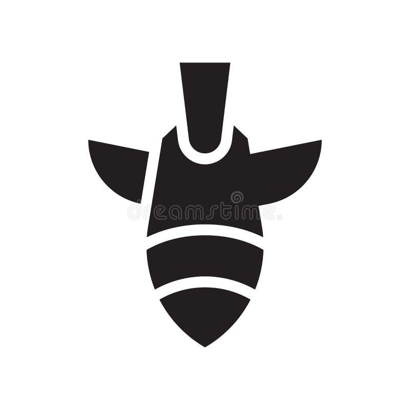 Muestra y símbolo del vector del icono de la bomba aislados en el fondo blanco, B libre illustration