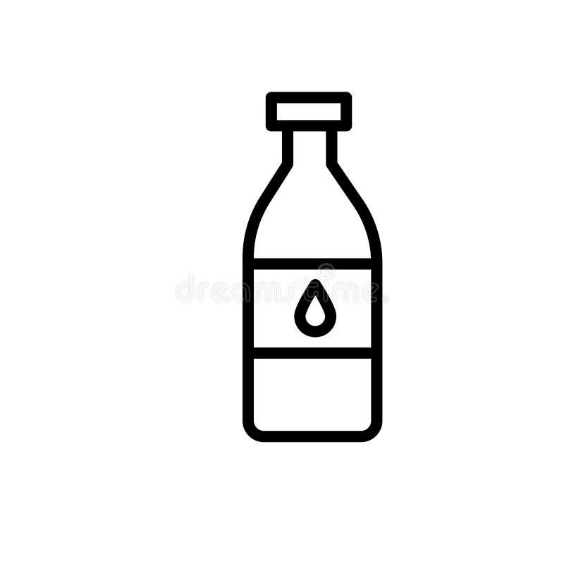 Muestra y símbolo del vector del icono de la botella de vino aislados en el fondo blanco, concepto del logotipo de la botella de  libre illustration