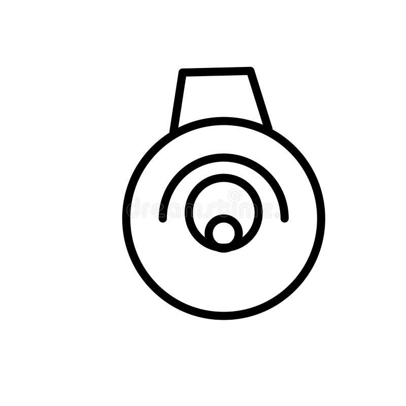 Muestra y símbolo del vector del icono de la campana eléctrica aislados en el fondo blanco, concepto del logotipo de la campana e libre illustration
