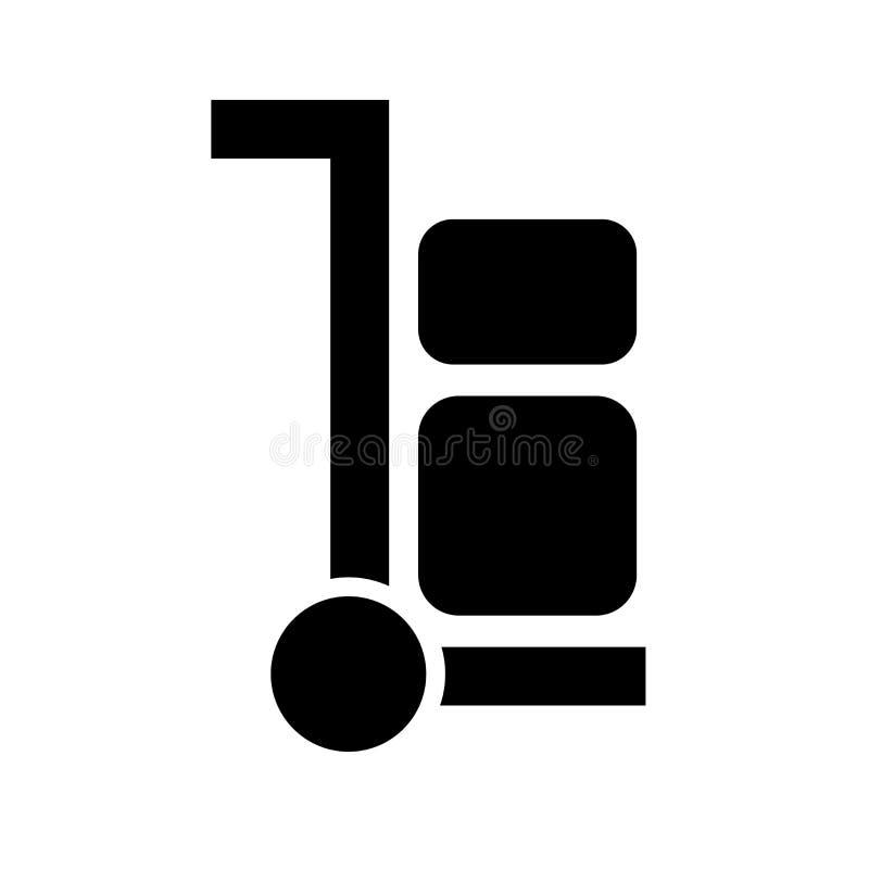 Muestra y símbolo del vector del icono de la carretilla aislados en el fondo blanco, concepto del logotipo de la carretilla ilustración del vector