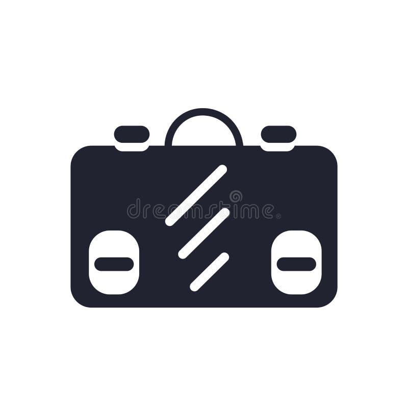 Muestra y símbolo del vector del icono de la cartera aislados en el fondo blanco, concepto del logotipo de la cartera libre illustration