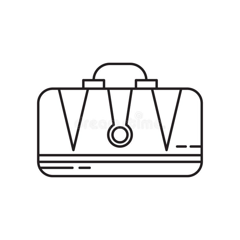 Muestra y símbolo del vector del icono de la cartera aislados en el fondo blanco, concepto del logotipo de la cartera ilustración del vector