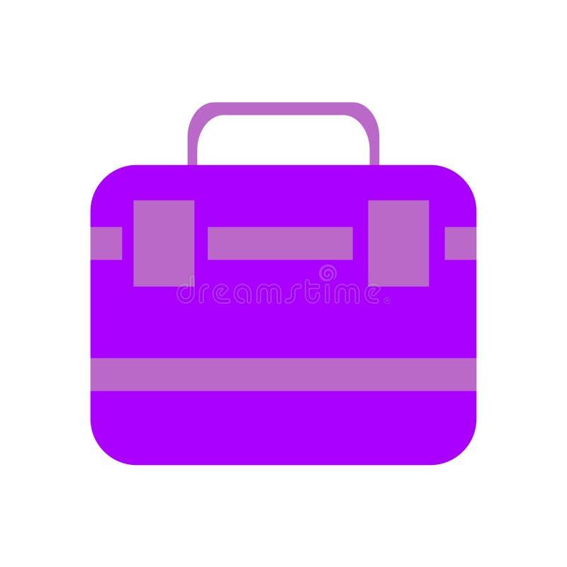 Muestra y símbolo del vector del icono de la cartera aislados en el fondo blanco, concepto del logotipo de la cartera stock de ilustración