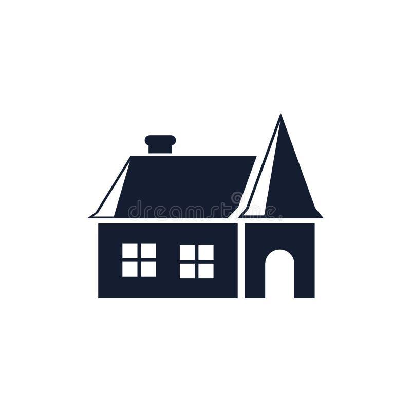 Muestra y símbolo del vector del icono de la casa aislados en el fondo blanco, concepto del logotipo de la casa ilustración del vector