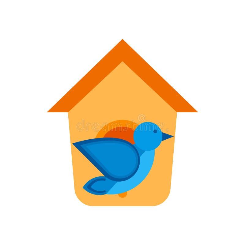 Muestra y símbolo del vector del icono de la casa del pájaro aislados en el fondo blanco, concepto del logotipo de la casa del pá libre illustration