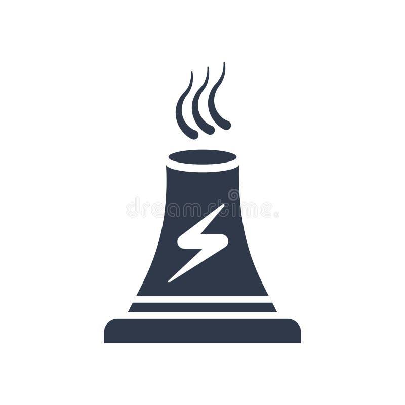 Muestra y símbolo del vector del icono de la central eléctrica aislados en el backgr blanco libre illustration
